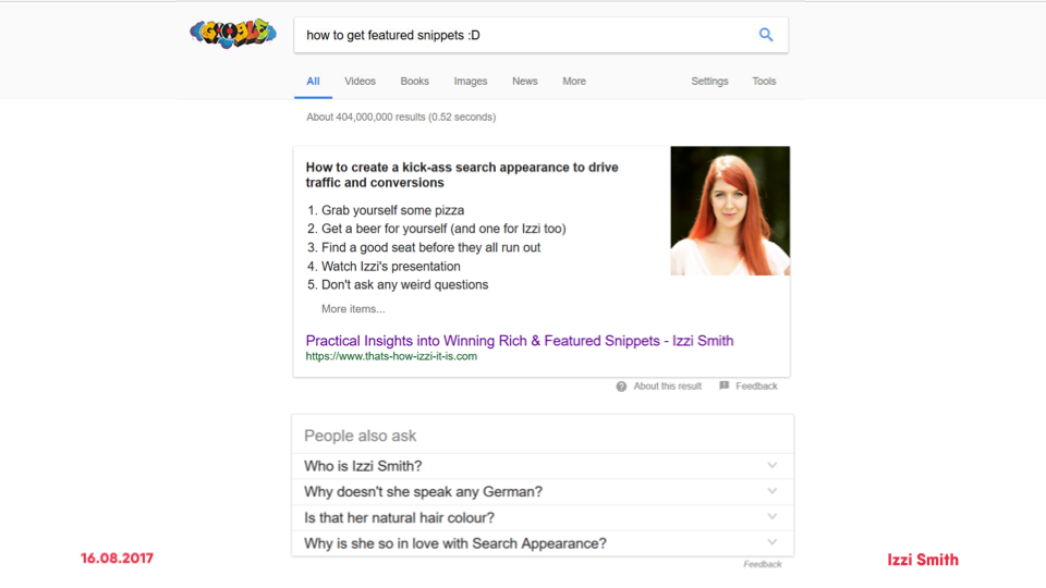 Bild von Practical Insights into Winning Rich and Featured Snippets
